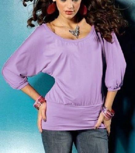3//4 bras chemise longue taille 46 Light violet 401379 t-shirt NOUVEAU