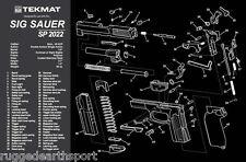 Sig Sauer SP2022 Handgun TekMat Gun Cleaning Mat 11x17 parts Schematic SIGSp2022