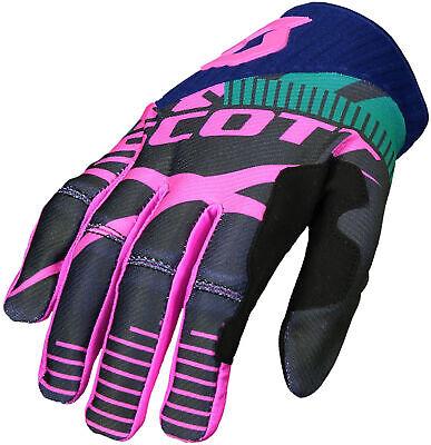 Obligatorisch Scott 450 Patchwork Full Finger Cycling Gloves - Blue