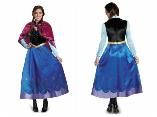 Adults Frozen Princess Anna Fancy Dress Up Snow Queen Women with Cape Costumes