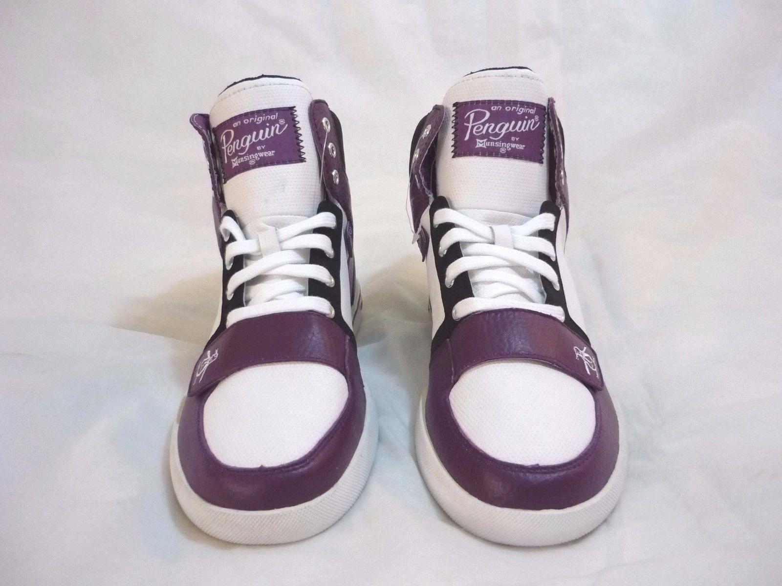 Original Penguin Moby Hi Top Zapatillas Negro Zapatos para hombre Blanco gloxina Negro Zapatillas 27af46