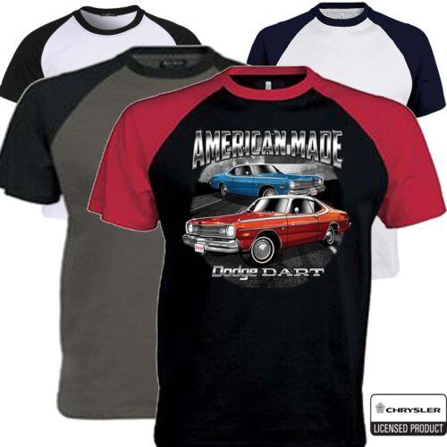 Dodge T shirt Licence Dart MOPAR CHRYSLER American Vintage Classic Muscle Voiture