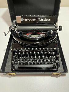 1937 Underwood Noiseless 77 Manual Typewriter / Remington Noiseless