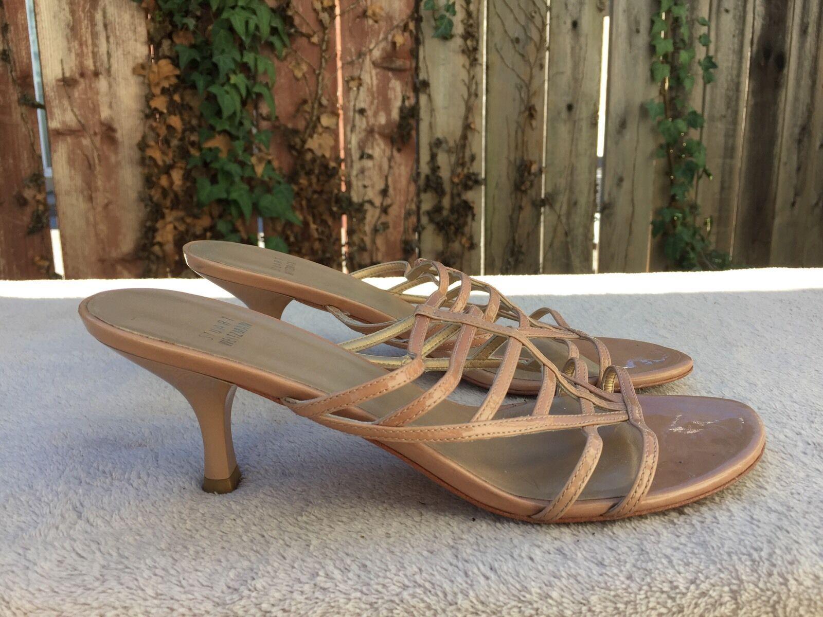 STUART WEITZMAN WEITZMAN WEITZMAN Medium Heel Sandals Beige Leather 8 1 2 933cc7