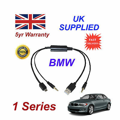 Bmw 1 Series Audio Cable For Samsung Galaxy, Htc, Blackberry, Lg, Nokia, Sony