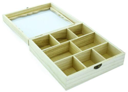 Teebox aus Holz 8 Fächer Teedose Teekiste Teebeutelbox Teebeutelkiste Echtholz
