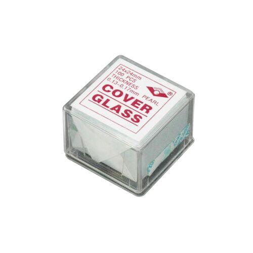 Microscope Verre Housse Diapositives Lamelles de 100 Pièces Pre-cleaned 24mm x