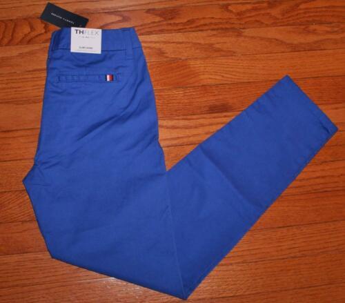 NEW NWT Womens Tommy Hilfiger Stretch Slim Chino THFLEX Royal Blue Pants $59 *4N