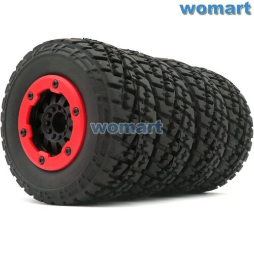 4pcs RC 1//10 2.2//3.0 Short Course Reifen Tires /& Beadlock Felgen Wheels Hex 12mm