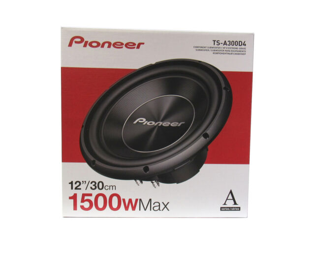 """Pioneer TSA300D4 12"""" 1,300 Watts Max.  Component Subwoofer w/ Dual Voice Coil"""