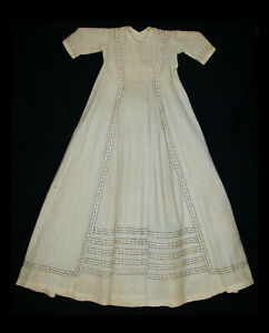 Old-Antique-Vtg-1860s-Childs-Little-Girls-Doll-Dress-Gown-Beautiful-Very-Nice