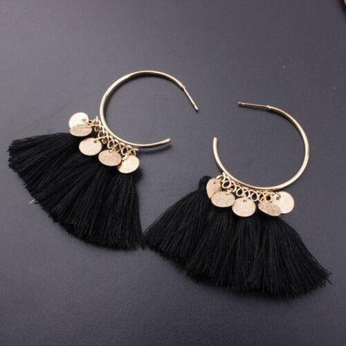 Women Bohemian Earrings Boucle D/'oreille Boho Tassel Earrings Indian Jewelry