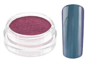 Nailart Mirror Chrome Puder blue ocean Nagel Pulver Pigment Spiegel Glanz Gel UV
