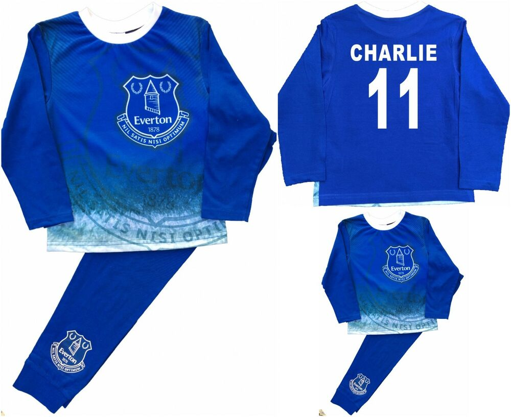 Intelligent Garçons Everton Football Club Pjs Pyjamas Sleepwear Peut être Personnalisé Facile à Lubrifier