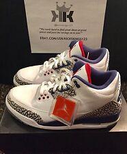 New! Nike Air Jordan Retro 3 True Blue Mid 854262-106 Size 11 Retail $220