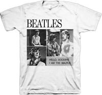 Official The Beatles 4 Blocks Hello Goodbye Adult T-shirt -rock Band Music John