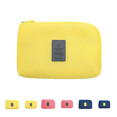 Shockproof Travel Data Cable Charger Storage Bag Mobile Power Pack Pouch Bag