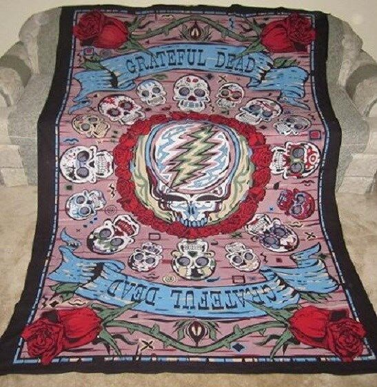Sunshine Joy Grateful Dead 3d Mexicali Sugar Skulls Tapestry ...
