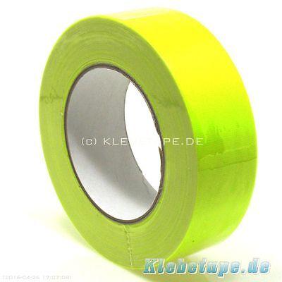 Bande tissée 38 mm x 25m jaune fluo Gaffa® Bande de marquage Fluorescent