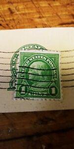 1-Cent-Green-Benjamin-Franklin-STAMP-Used