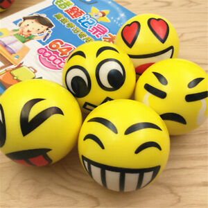 Smile-Face-Anti-Stress-Reliever-Ball-ADHD-Autism-Mood-Toy-Squeeze-Relie-EV