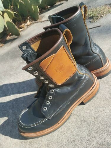 Rare Biker Red Wing Billy Boot Role club sole comb