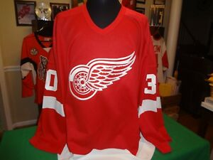 DETROIT-RED-WINGS-EXHIBITION-GAME-WORN-GOALIE-JERSEY