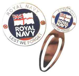 Royal-Navy-Military-Crested-Commemorative-Collectors-Coin-And-Bookmark