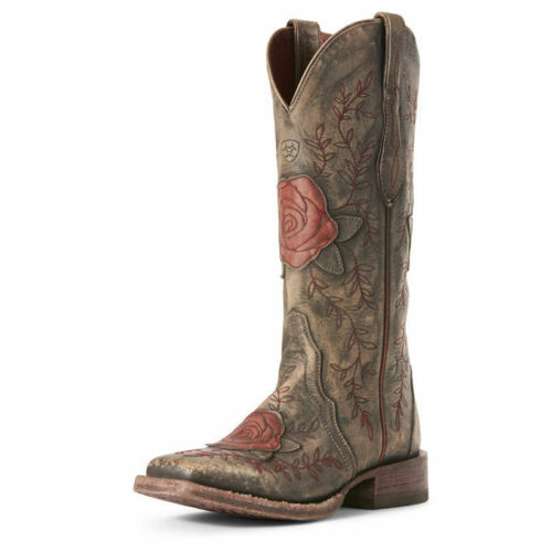Womens Arait Rosita London Fog Wide Sq Toe Western Boot 10027270