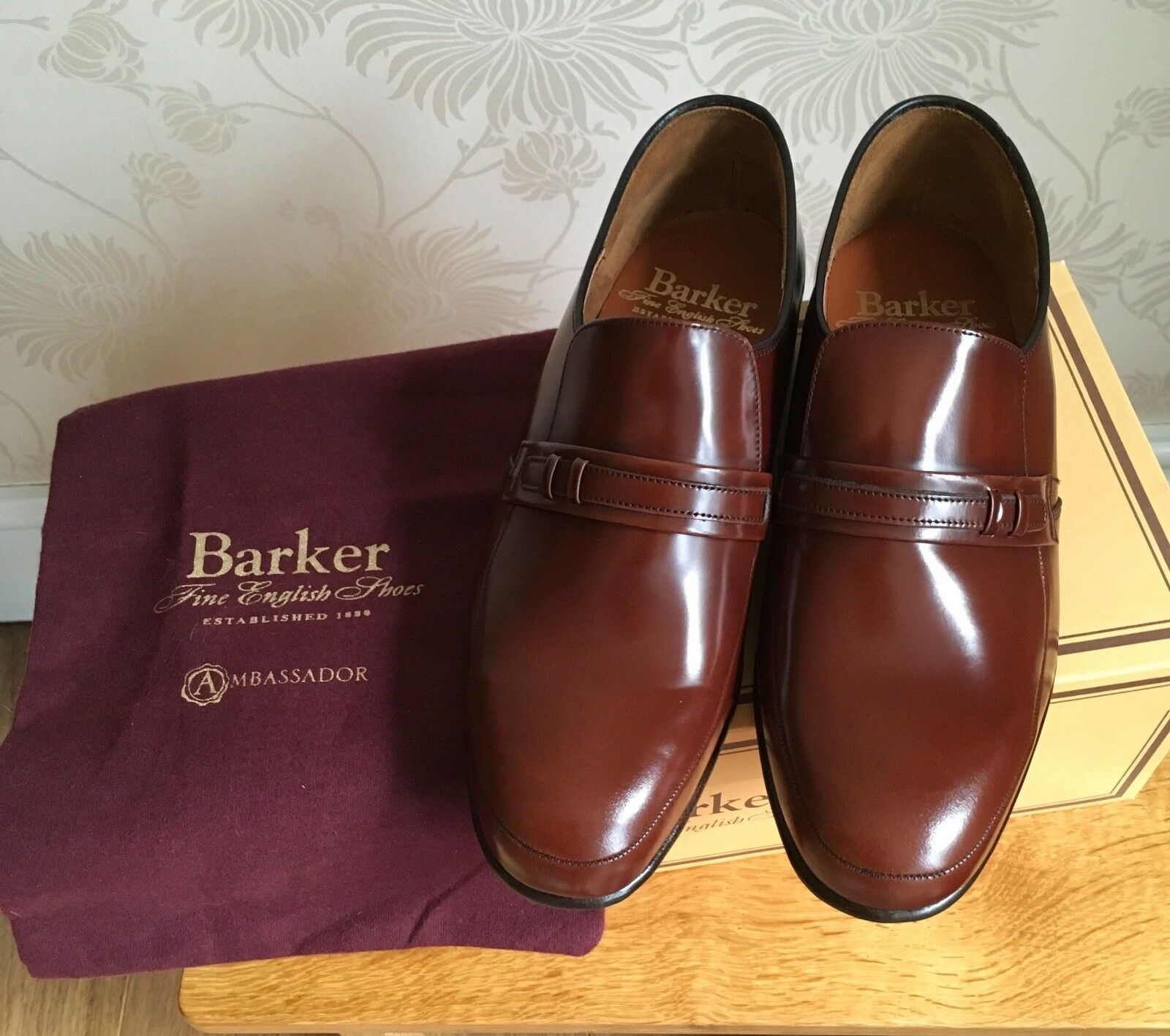 24606a61c6bb10 BARKER Campbell Wood Fine Leather Slip On shoes Loafers BNIB Brown G  nnjxhm5866-Formal Shoes