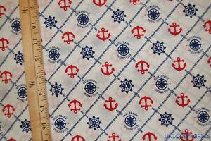 2-33Yds-Paul-Frank-Nautical-Print-Patriotic-Cotton-Fabric