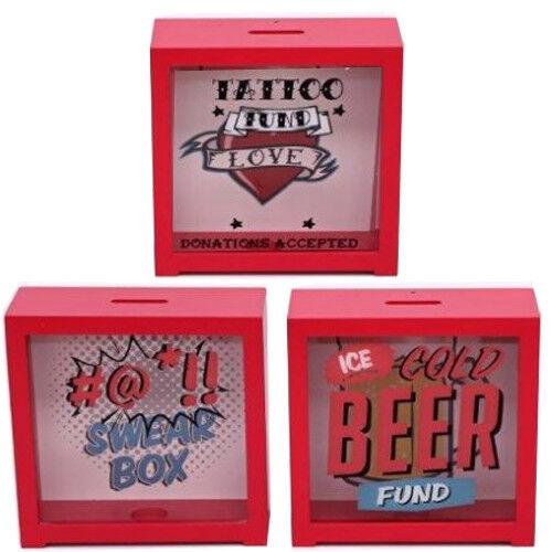 WOODEN-MONEY-BOX-FRAMED-GLASS-FUND-SAVING-GIFT-PIGGY-BANK-SAFE-COINS-CASH-RED