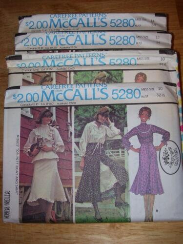 "UNCIRCULATED 1976 McCALL/'S #5280-/""LAURA ASHLEY/"" TOP-PETTI-SKIRT PATTERN 10-16 FF"