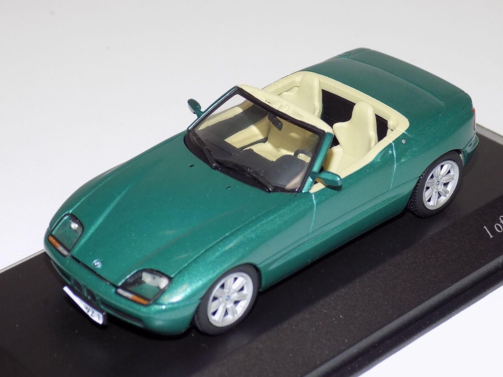 1   43 minichamps bmw z1 cabriolet von 1991 in metallic - grün