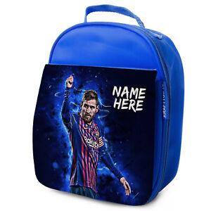 Messi-Almuerzo-Bolso-Barca-Escuela-Aislado-Ninos-Futbol-Personalizado-De-NL08