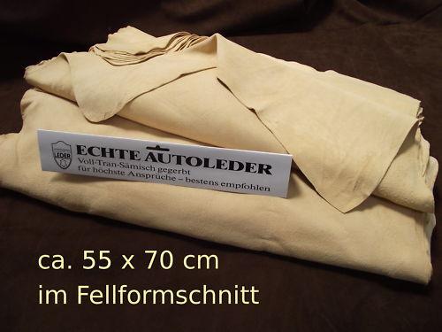 KFZ Fensterleder in Fellform Ledertuch Poliertuch Chamoisleder Staubtuch