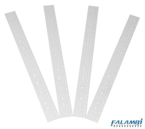 DIN A5 für Plastik oder Draht 100 Abheftstreifen transparent mit Eurolochung