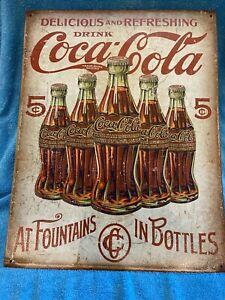 NEW Coca Cola Metal Sign 12x16