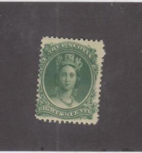 NOVA-SCOTIA-MK4559-11-FVF-MNH-8-1-2cts-VICTORIA-GREEN-CAT-VALUE-30