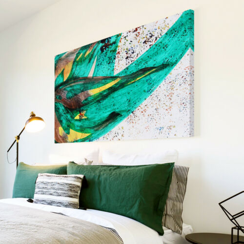 AB1202 Jamaica flag green Modern Abstract Canvas Wall Art Large Picture Prints