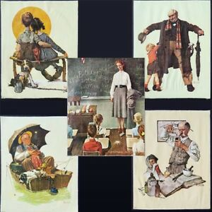 Details About 5 Norman Rockwell 11x14 Canvas Prints Cpc 1972 Little Spooners Pharmacist