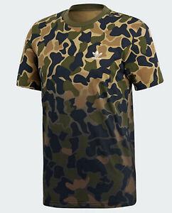 Détails sur Adidas Originals Homme Camo T Shirt Camouflage Trefoil Logo M L Vert Marron Nouveau afficher le titre d'origine