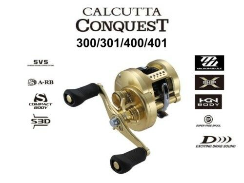 Shimano 18 Calcutta Conquest 400 Right casting reel reel reel F/S from Japan 94c006