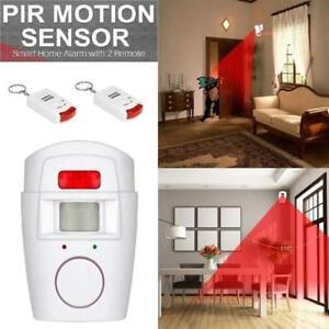 Alarme-Sans-Fil-Detecteur-de-mouvement-PIR-Infrarouge-securite-2-Telecommandes