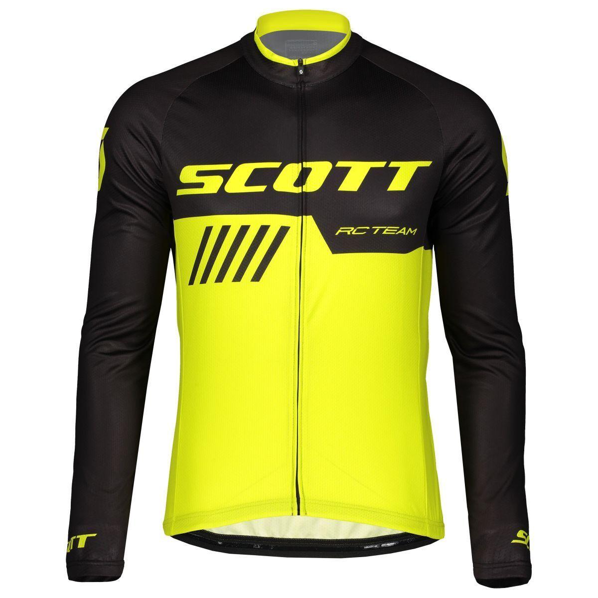 Scott RC Team 10 Fahrrad Trikot lang gelb schwarz 2019