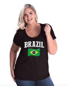 Brazil-Women-Curvy-Plus-Size-Scoopneck-Tee