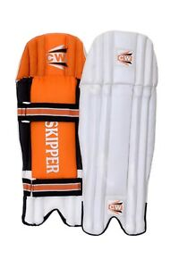 SKIPPER-Wicket-Keeping-Leg-Protector-Keeper-Pads-PVC-For-Men-039-s-Senior-Light