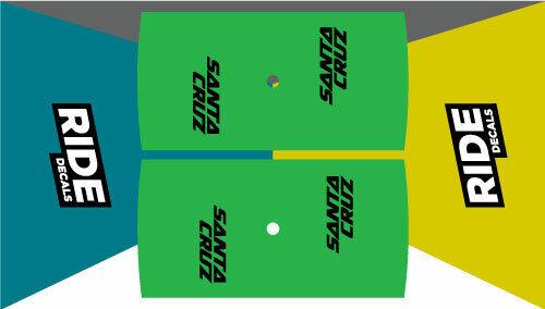 "Santa Cruz réserve RIM DECALS 27.5/""//29/"" x 25 mm ENDURO//TRAIL-Vert"