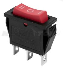 New Spdt On Off On Rocker Switch Withred Actuator Kcd3 20a125vac Usa Seller