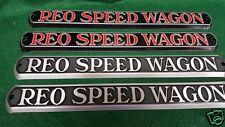 REO Speed Wagon Truck Hood Emblem Set of Two - 1932 - 1936